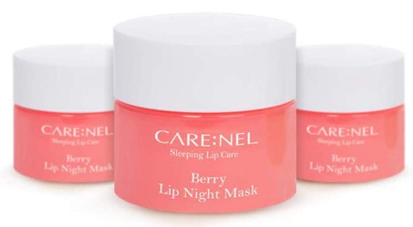 carenel lip mask evening skincare routine