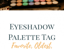 Eyeshadow Palette Tag post