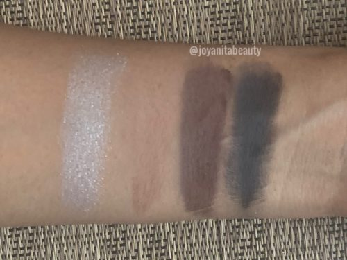 elf truffles, bite size mini eyeshadow palette, swatches, deep skin, dark skin