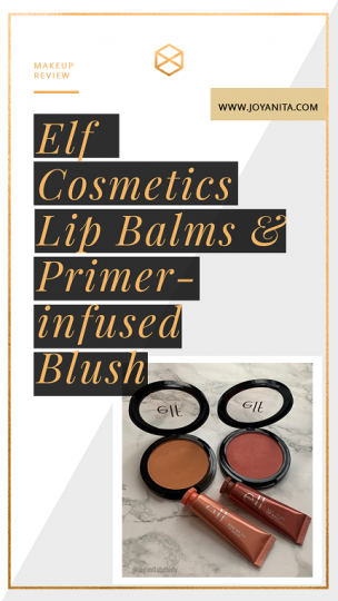 Elf Cosmetics, lip balm, blush, deep skin, dark skin, swatches