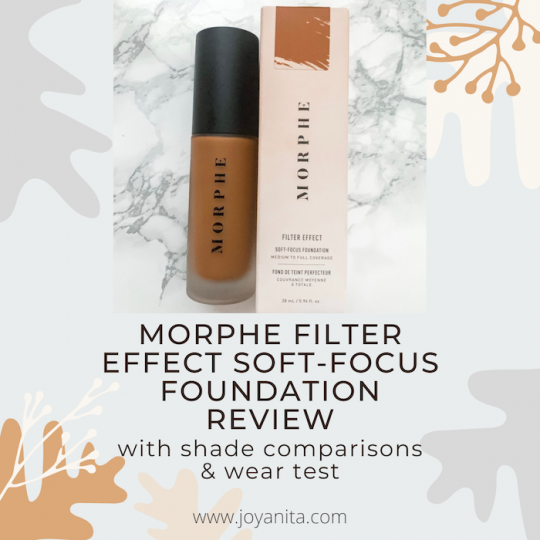 morphe filter effect soft focus, foundation review, deep skin, foundation shade comparisons, morphe filter rich 27
