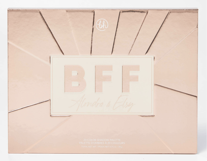 bh cosmetics, bff eyeshadow palette, mattes, shimmers